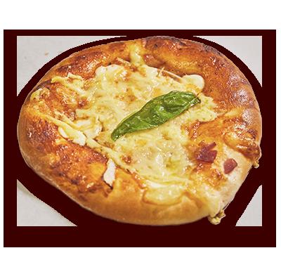 もちもちチーズの<br>フォンデュピザ