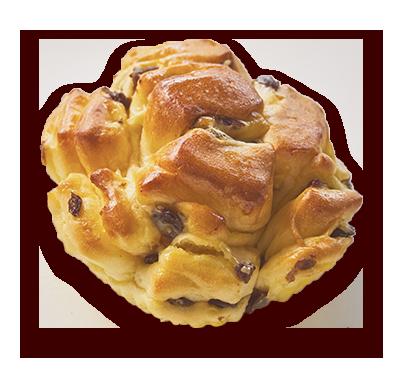 バター風味のレーズンパン