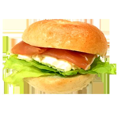 生ハムクリームチーズベーグル