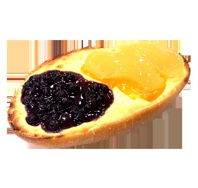 クリームチーズのフルーツタルティーヌ