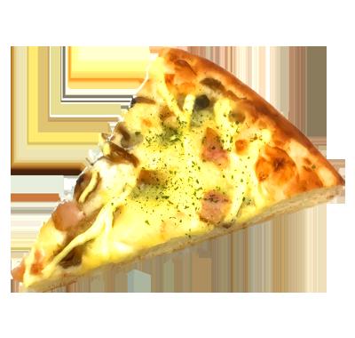 木の子とベーコンのグラタンピザ