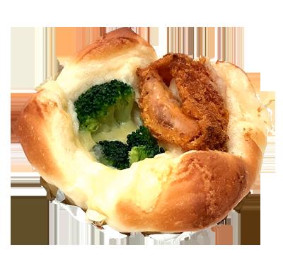 秋鮭とブロッコリーのグラタンパン